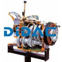 HGV Manual Gearbox With Reduction Gear Cutaway