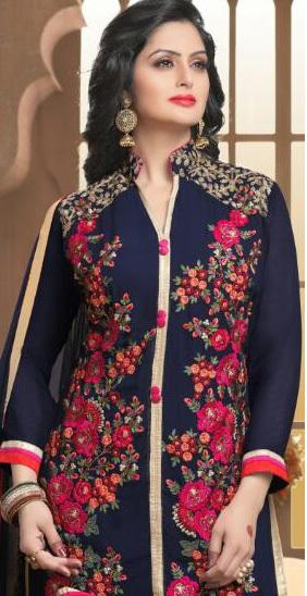 Salwar Kameez Designs Georgette Embroidered Suits