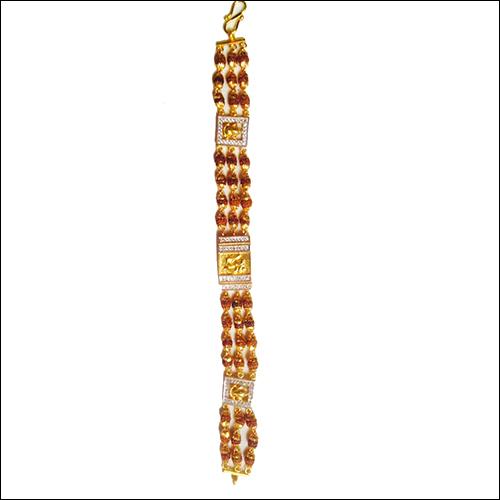Rudrakash Gold Plated Bracelet
