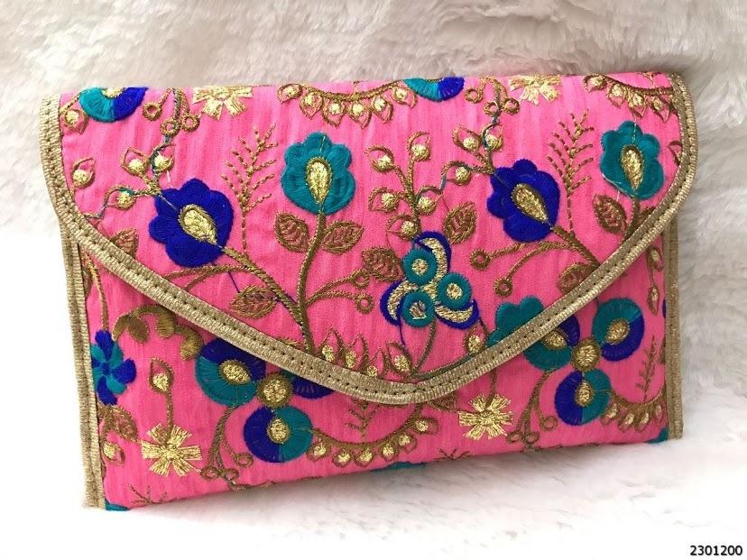 Designer Handwork Clutch Bags With Sling