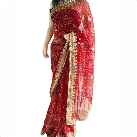 Bandhej Bridal Saree