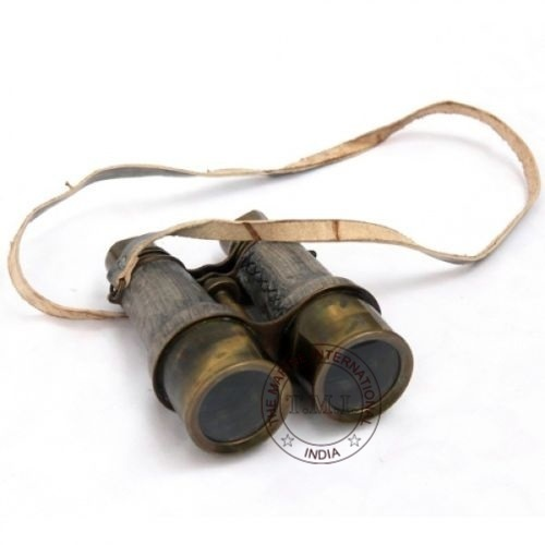 Leather Mounted Antique Binocular