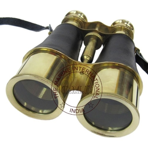 Leather Mounted Brass Binocular