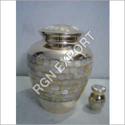Hammered Brass Cremation Urns