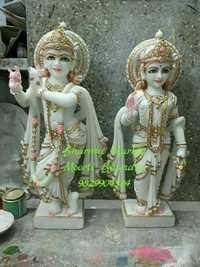 Marble Radhey Krishna Statue