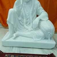 Marble Sitting Sai Baba Statue