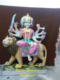 Marble Santoshi Ma Statue