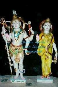 Marble Shiva Parwati Moorti