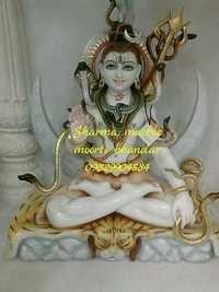 Marble Shiv Shankar Statue