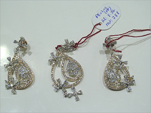 Fancy Diamond Pendant Set