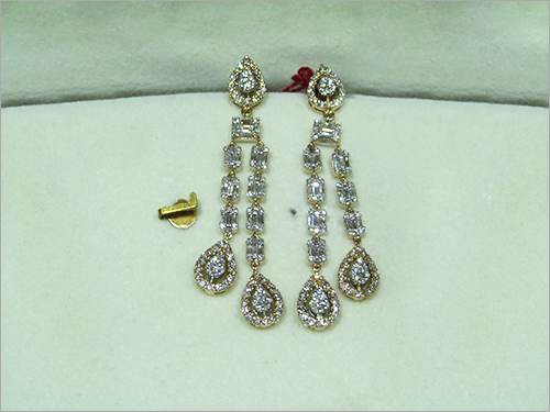 Diamond Drop Earings