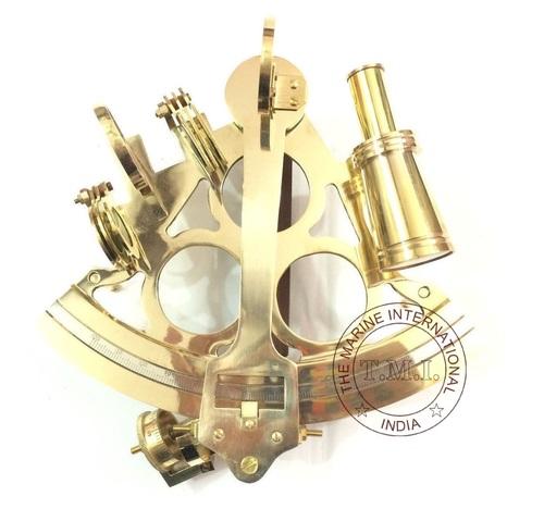 Brass Navigational Sextant