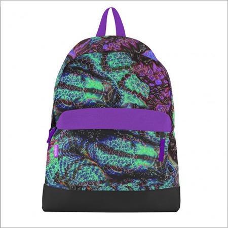 Electric Anaconda Canvas Bookbag