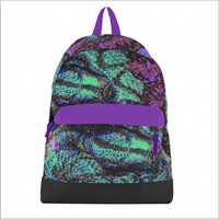 Electric Anaconda Canvas Bookbag