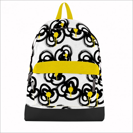 Graffiti Floral Canvas Bookbag