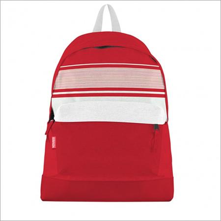 Red White Stripes Canvas Bookbag