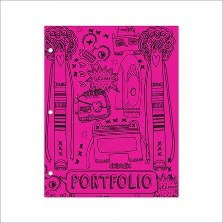 Pink Two Pocket, Three Ring Folder