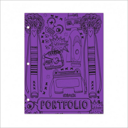 Purple Two Pocket, Three Ring Folder