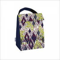 Lunch Tote Green Purple Blue