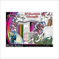 Mystic Fantacy 27pc Adult Coloring Kit