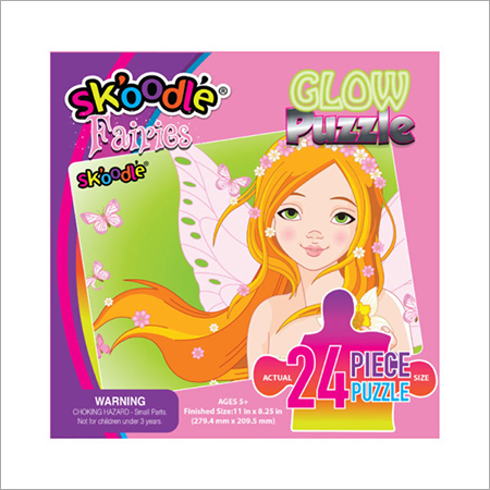 24 Piece Fairies Glow Puzzles