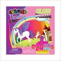 24 Piece Unicorn Glow Puzzles