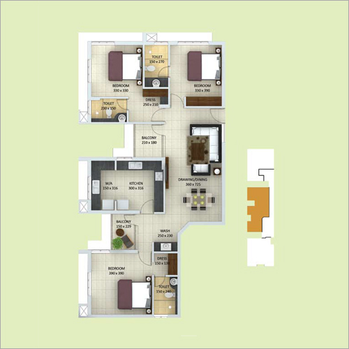 3 BHK RESIDENTIAL FLATS FOR SALE IN MAVELIKARA