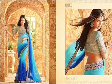 Shaded Colour Designer Saree Online