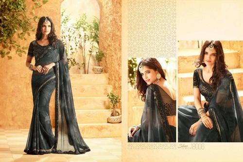 Black Beauty Designer Saree Online