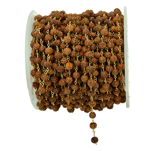 Rudraksha Gold Plated Beaded Chain