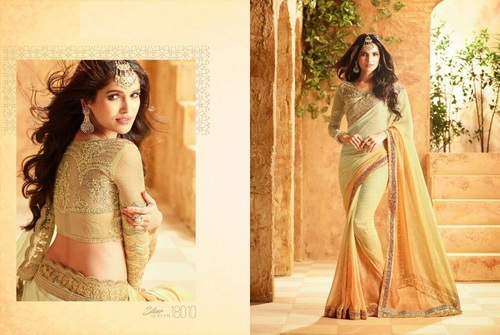 Buy Pastel Shade Designer Saree Online