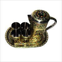 Handicraft Jug And Glass Set
