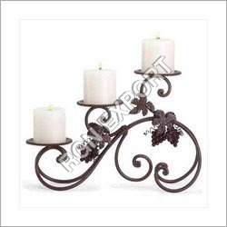 3-Light Iron Candle Holder