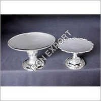Brass Silver Cake Stand