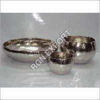 Aluminum Hammered Bowls