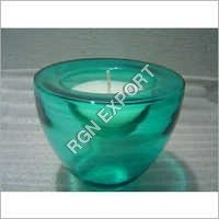 Candle With Glass Bowl