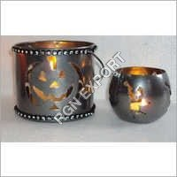 Christmas Metal Votive