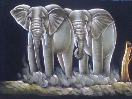 Two Elephants Paintings