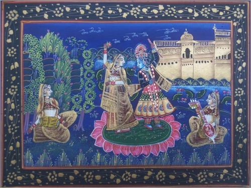 Radha Krishna Dance painting