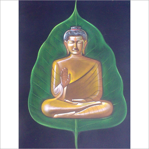Buddha on a leaf Painting