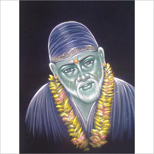 Blue Sai Baba Painting