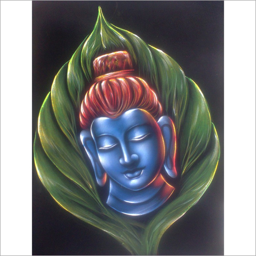 Blue Buddha Face Painting
