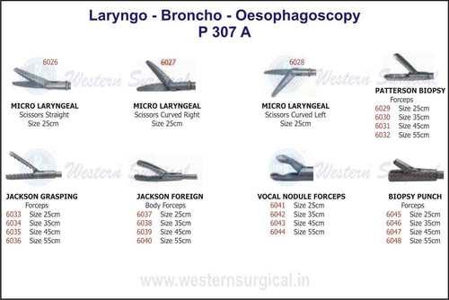 Micro Laryngeal, Patterson Biopsy, Jackson Graspin