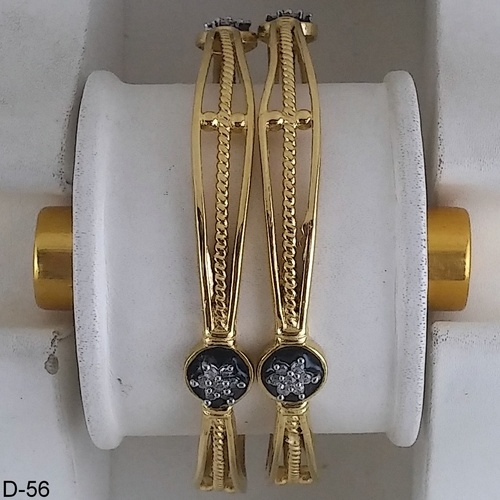 Gold Plated Bright Gold Bangles