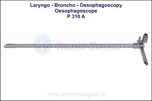Oesophagoscope With Fiber Light Carrier