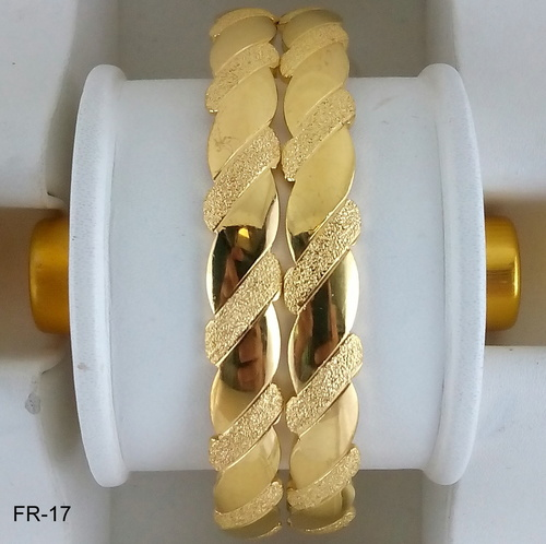 Gold Plated Plain Bangles