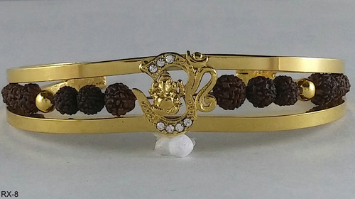 Gold Plated Rudrakash Kada