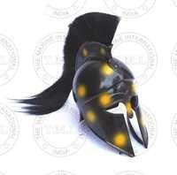 Yellow Spot Corinthian Helmet