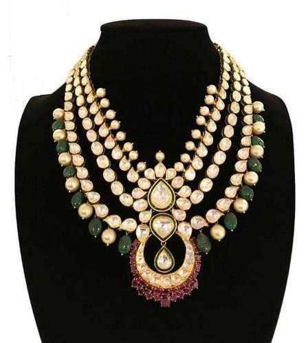 Kundan Jadau Gold Bridal Necklace