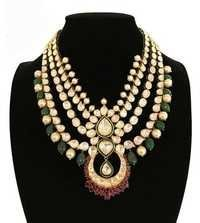 Kundan Jadau Gold Bridal Necklace